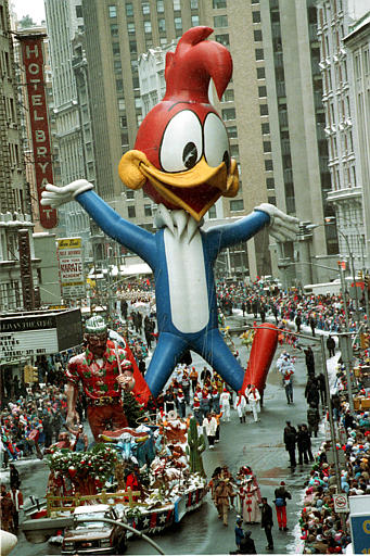 <div class='meta'><div class='origin-logo' data-origin='AP'></div><span class='caption-text' data-credit=''>Woody Woodpecker makes his way down Broadway in the 64th annual Macy's Thanksgiving Day parade in New York City, Thursday, Nov. 23, 1989.</span></div>