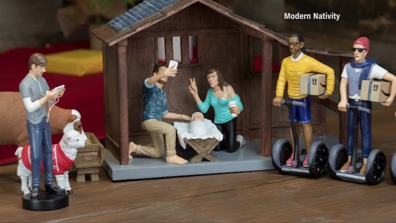 This is an undated image of the 'hipster' nativity scene.