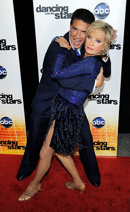 <div class='meta'><div class='origin-logo' data-origin='AP'></div><span class='caption-text' data-credit='AP Photo/Chris Pizzello'>Florence Henderson and her dance partner Corky Ballas pose together following the 11th season premiere of &#34;Dancing with the Stars,&#34; Monday, Sept. 20, 2010.</span></div>