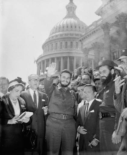 "<div class=""meta image-caption""><div class=""origin-logo origin-image none""><span>none</span></div><span class=""caption-text"">Fidel Castro, fresh from a visit to the Senate Foreign Relations Committee, poses in front of the Capitol April 17, 1959.  (AP Photo)</span></div>"