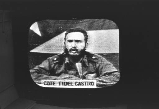 "<div class=""meta image-caption""><div class=""origin-logo origin-image none""><span>none</span></div><span class=""caption-text"">Cuban Prime Minister Fidel Castro replied to President Kennedy's naval blockade over Cuban radio and television, October 23, 1962. (AP Photo)</span></div>"