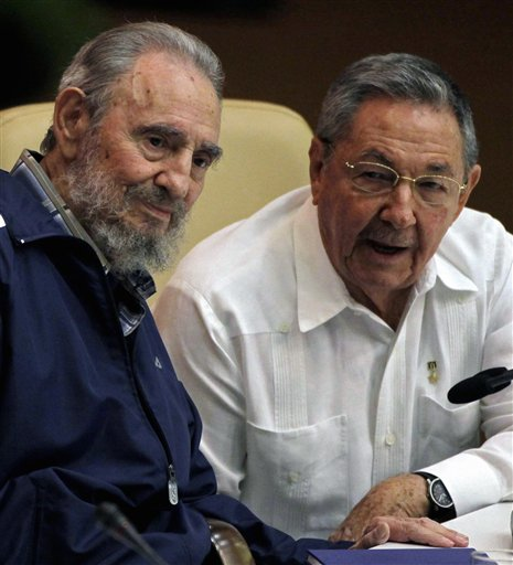 "<div class=""meta image-caption""><div class=""origin-logo origin-image none""><span>none</span></div><span class=""caption-text"">Fidel Castro, left, and Cuba's President Raul Castro attend the 6th Communist Party Congress in Havana, Cuba, Tuesday April 19, 2011. (AP Photo/Javier Galeano)</span></div>"