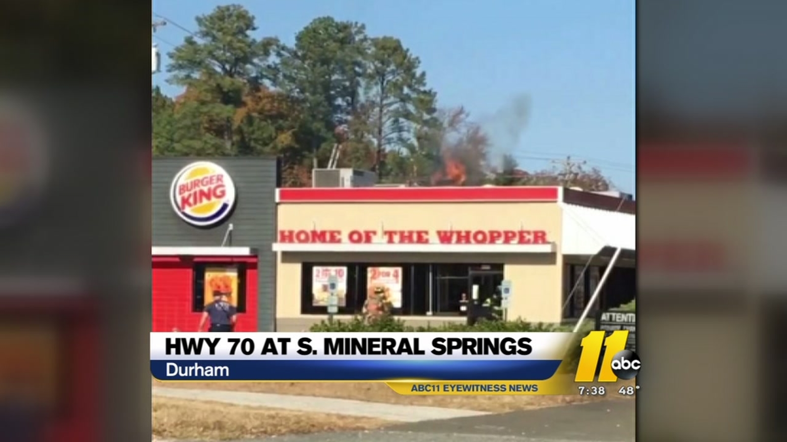 Fire Reported At Burger King In Durham Abc11 Com