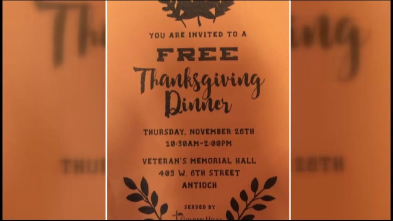 This is an undated image of a Thanksgiving dinner flyer from 2015.