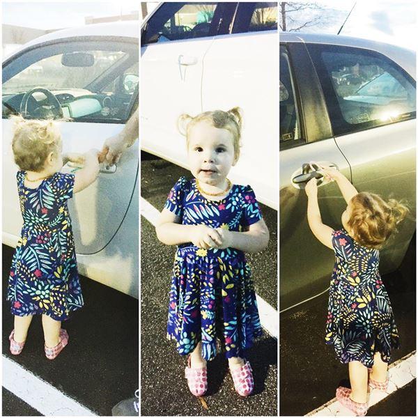 <div class='meta'><div class='origin-logo' data-origin='none'></div><span class='caption-text' data-credit='Molly Stillman/www.stillbeingmolly.com'>Lilly hanging candy canes on cars in a parking lot</span></div>