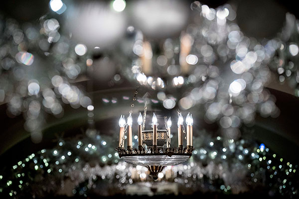 <div class='meta'><div class='origin-logo' data-origin='none'></div><span class='caption-text' data-credit='Andrew Harnik/AP Photo'>The Lower Cross Hall is decorated with &#34;snowball&#34; arches created from more than 6,000 ornaments at the White House during a preview of the 2016 holiday decor.</span></div>