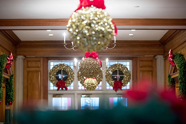 <div class='meta'><div class='origin-logo' data-origin='none'></div><span class='caption-text' data-credit='Andrew Harnik/AP Photo'>The East Wing Hallway of the White House during a preview of the 2016 holiday decor at the White House, Tuesday, Nov. 29, 2016, in Washington.</span></div>