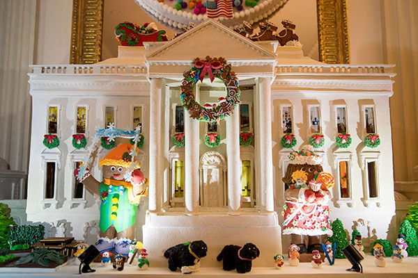 <div class='meta'><div class='origin-logo' data-origin='none'></div><span class='caption-text' data-credit='Andrew Harnik/AP Photo'>This year's White House Gingerbread House, featuring 150 pounds of gingerbread and 100 pounds of bread dough, is pictured in the State Dining Room.</span></div>