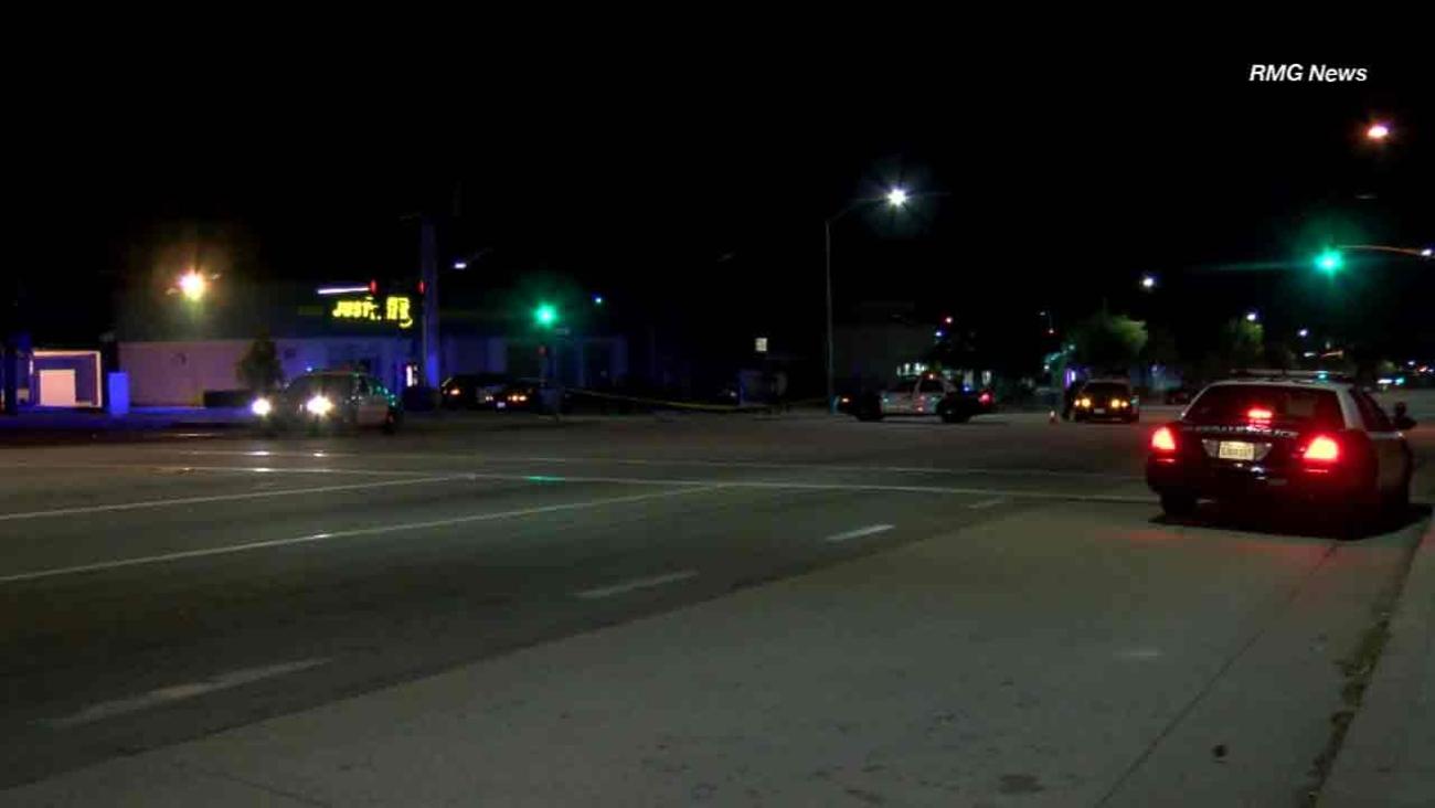 Glendale police investigate the scene of an officer-involved shooting in Glendale on Friday, Nov. 2, 2016.