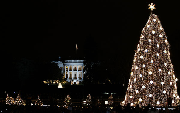 <div class='meta'><div class='origin-logo' data-origin='none'></div><span class='caption-text' data-credit='Haraz N. Ghanbari/AP Photo'>The National Christmas Tree is seen in front of the White House following its lighting during the 2005 Christmas Pageant of Peace, Thursday, Dec. 1, 2005.</span></div>