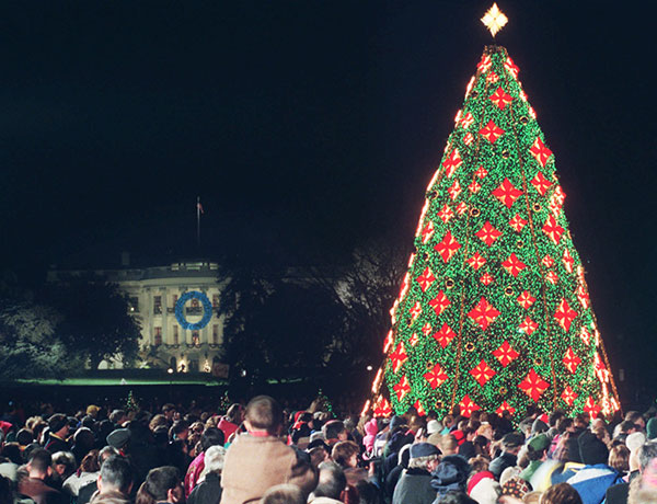 <div class='meta'><div class='origin-logo' data-origin='none'></div><span class='caption-text' data-credit='Pablo Martinez Monsivais/AP Photo'>The National Christmas Tree on the Ellipse is official lighted in Washington DC. Wednesday, Dec. 10, 1998.</span></div>
