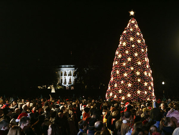 <div class='meta'><div class='origin-logo' data-origin='none'></div><span class='caption-text' data-credit='Gerald Herbert/AP Photo'>The National Christmas tree is seen in The Ellipse in front of the White House after the annual tree lighting ceremony in Washington Thursday, Dec. 2, 2004.</span></div>