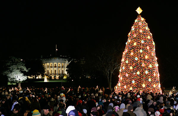 <div class='meta'><div class='origin-logo' data-origin='none'></div><span class='caption-text' data-credit='Manuel Balce Ceneta/AP Photo'>The National Christmas Tree is lit at the Ellipse, near the White House, left, during a ceremony marking the beginning of a three-week Christmas Pageant of Peace, Dec. 7, 2006.</span></div>