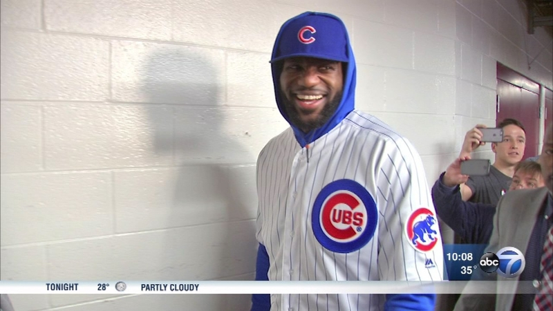newest collection 8407c 9d2d1 LeBron wears Cubs uniform after losing World Series bet