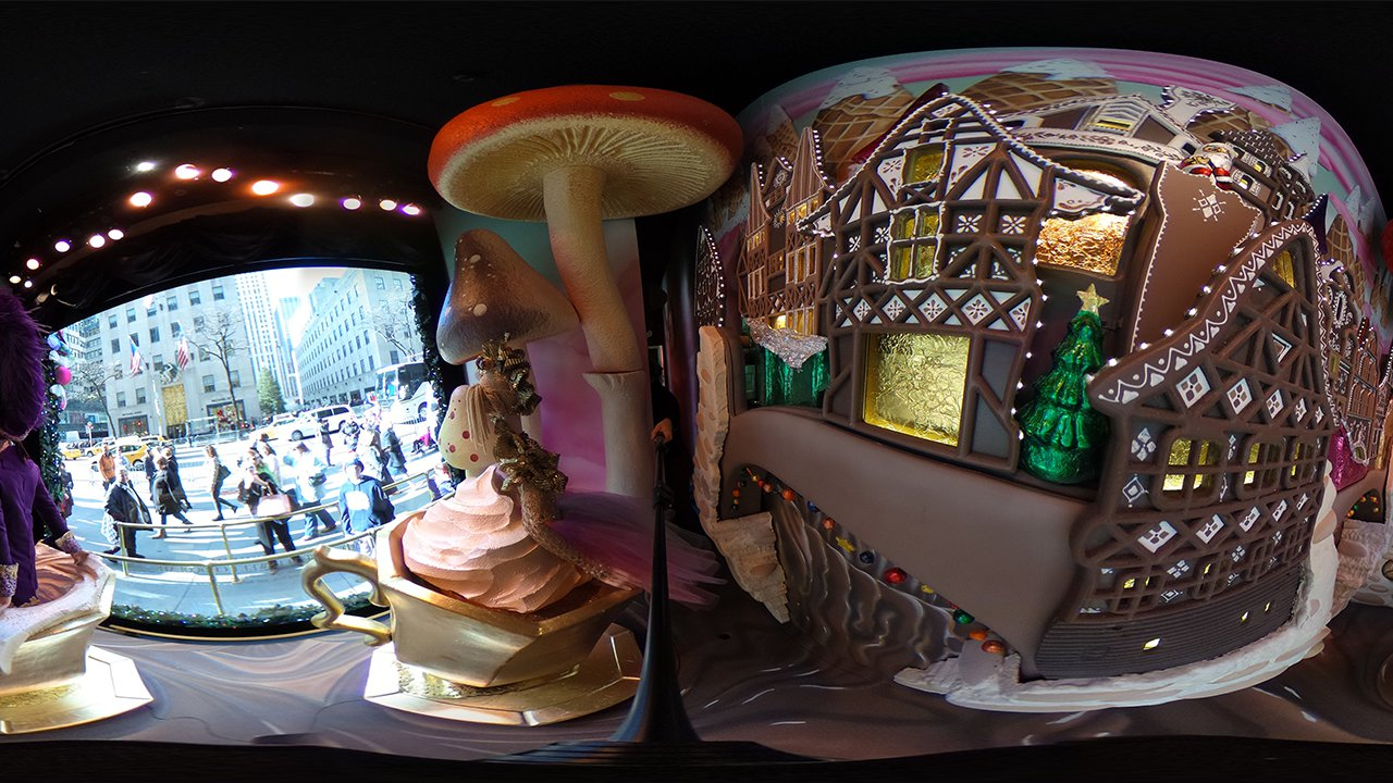 saks holiday window 360