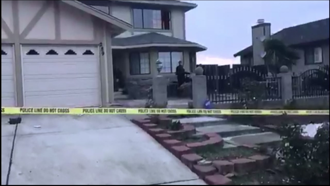 Police are on the scene after a man fatally shot an alleged home intruder in Vallejo, Calif. on Tuesday, Dec. 6, 2016.