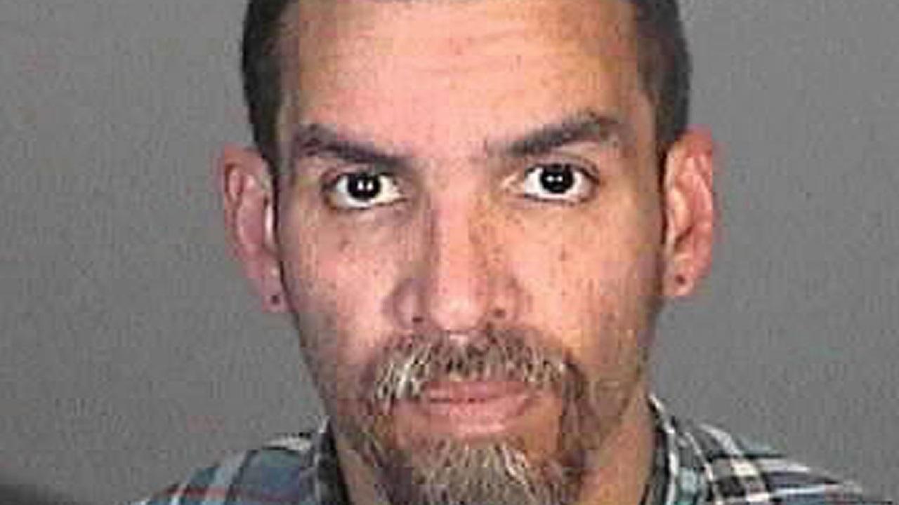 Mug shot of Derick Almena in Glendale, California taken in December, 2015.