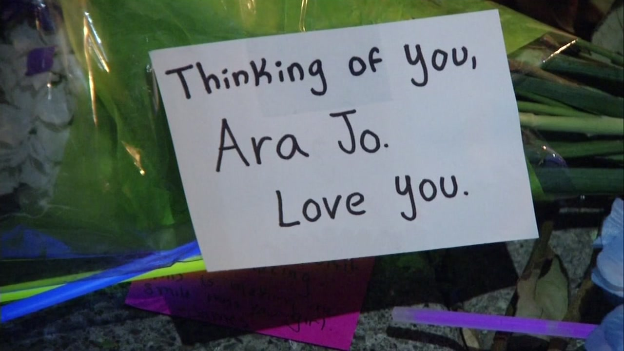 This is an undated image of a memorial message to Ara Jo, a victim of the Ghost Ship fire in Oakland, Calif.