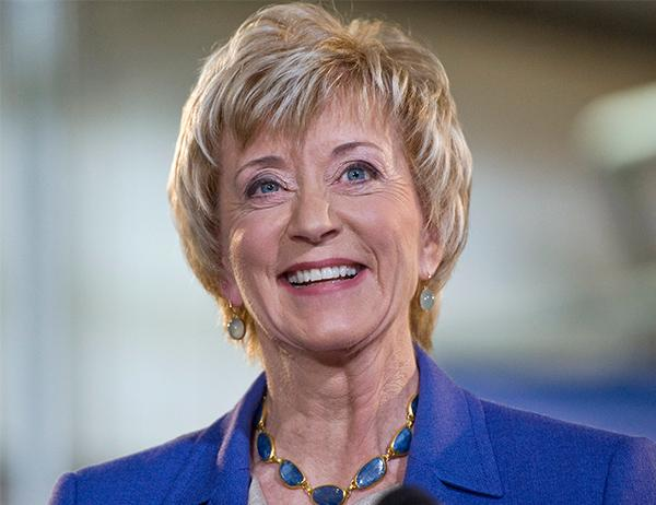 <div class='meta'><div class='origin-logo' data-origin='none'></div><span class='caption-text' data-credit='Jessica Hill/AP'>Trump selected Linda McMahon, co-founder of World Wrestling Entertainment Inc. (WWE) to lead the Small Business Administration.</span></div>