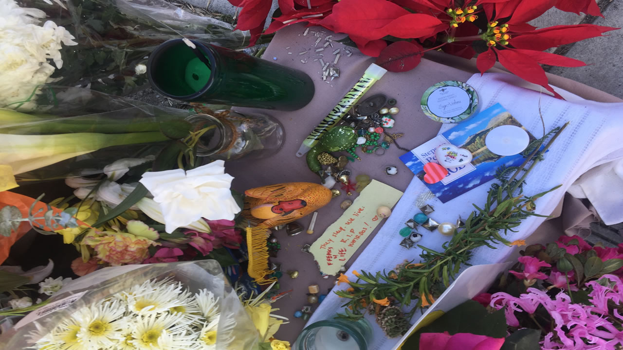 """<div class=""""meta image-caption""""><div class=""""origin-logo origin-image none""""><span>none</span></div><span class=""""caption-text"""">A growing number of gifts and messages sits near the site of the Ghost Ship fire in Oakland, Calif. on Dec. 6, 2016. (Tess Stevens)</span></div>"""