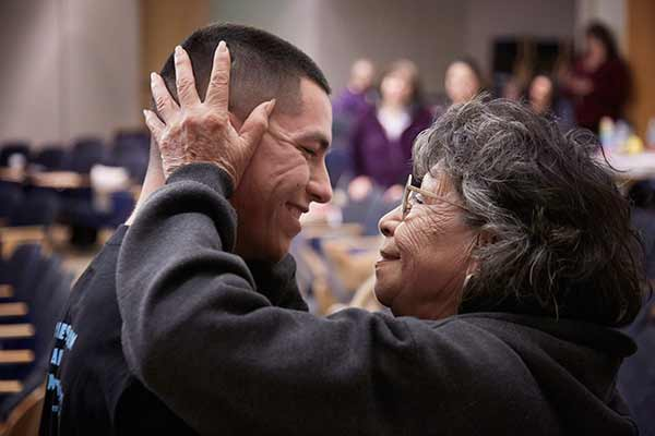 """<div class=""""meta image-caption""""><div class=""""origin-logo origin-image none""""><span>none</span></div><span class=""""caption-text"""">The twins' grandmother, Isabel Pineda, embraced her grandson, the twins' older brother, Emilio, after hearing the great news that the girls had been successfully separated around 4 (David Hodges/Lucile Packard Children's Hospital Stanford)</span></div>"""