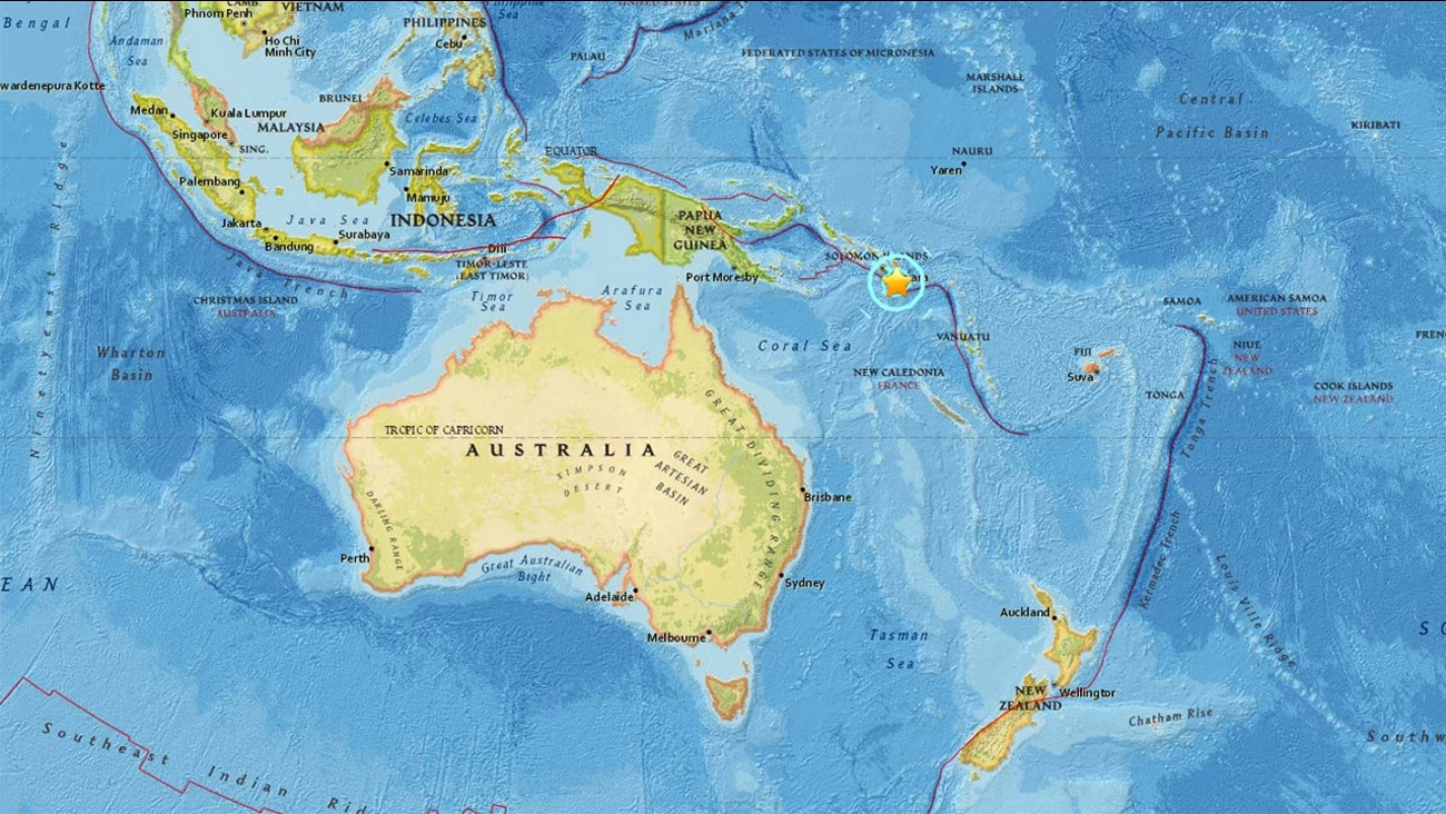 An aftershock with a preliminary magnitude of  6.9 struck the Solomon Islands on Saturday, Dec. 10, 2016, one day after a 7.7-magnitude earthquake hit the region.