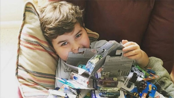Grieving mom hides Hot Wheels around town in honor of son who died of cancer