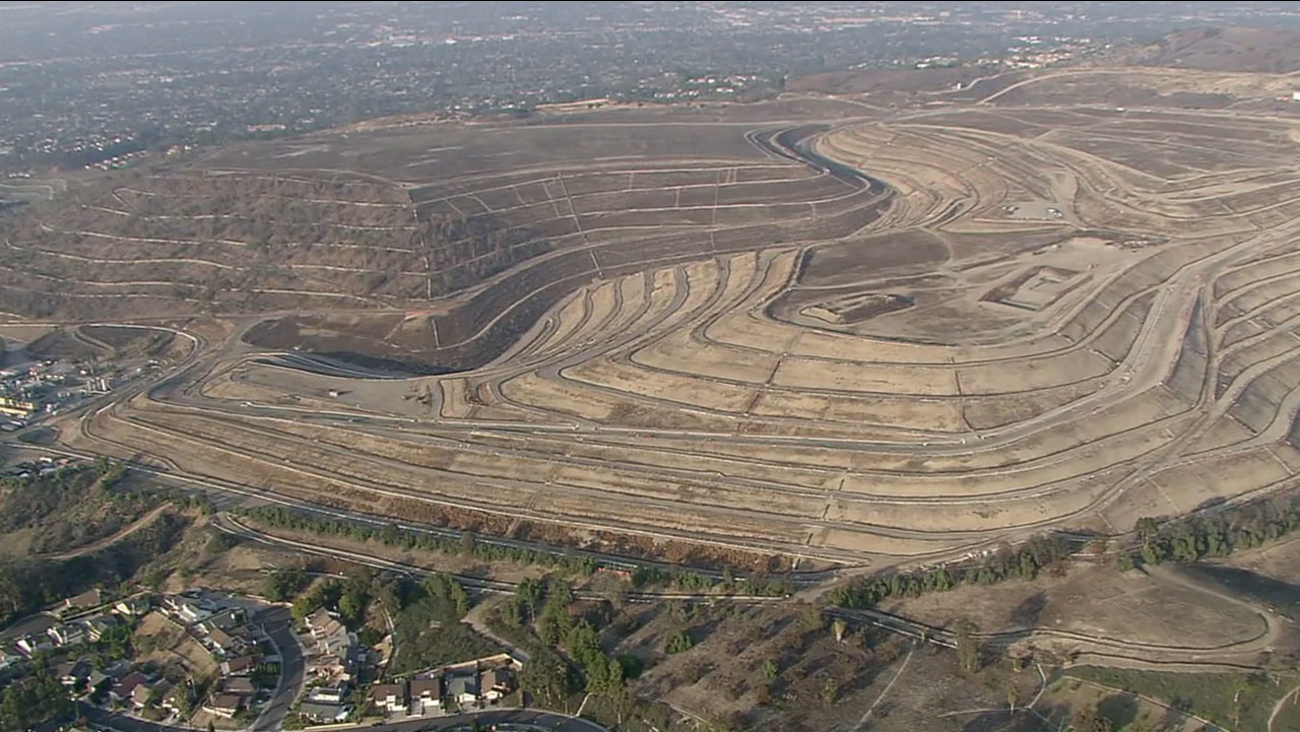 A large landfill in West Covina is shown in aerial footage from AIR7 HD on Friday, Dec. 9, 2016.