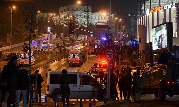 <div class='meta'><div class='origin-logo' data-origin='AP'></div><span class='caption-text' data-credit='AP'>Rescue services rush to the scene of explosions near the Besiktas football club stadium after attacks in Istanbul, late Saturday, Dec. 10, 2016.</span></div>