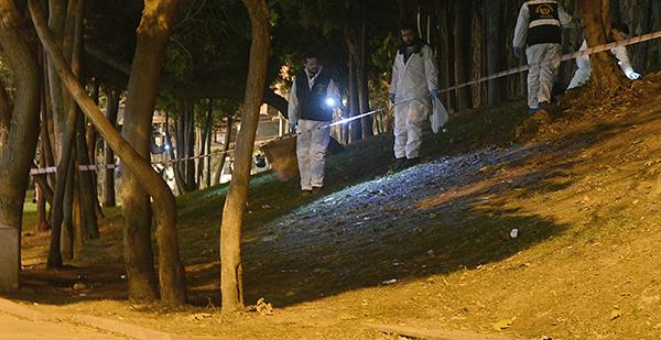 <div class='meta'><div class='origin-logo' data-origin='AP'></div><span class='caption-text' data-credit='AP'>Forensic officials work at the scene of explosions near the Besiktas football club stadium after attacks in Istanbul, late Saturday, Dec. 10, 2016.</span></div>