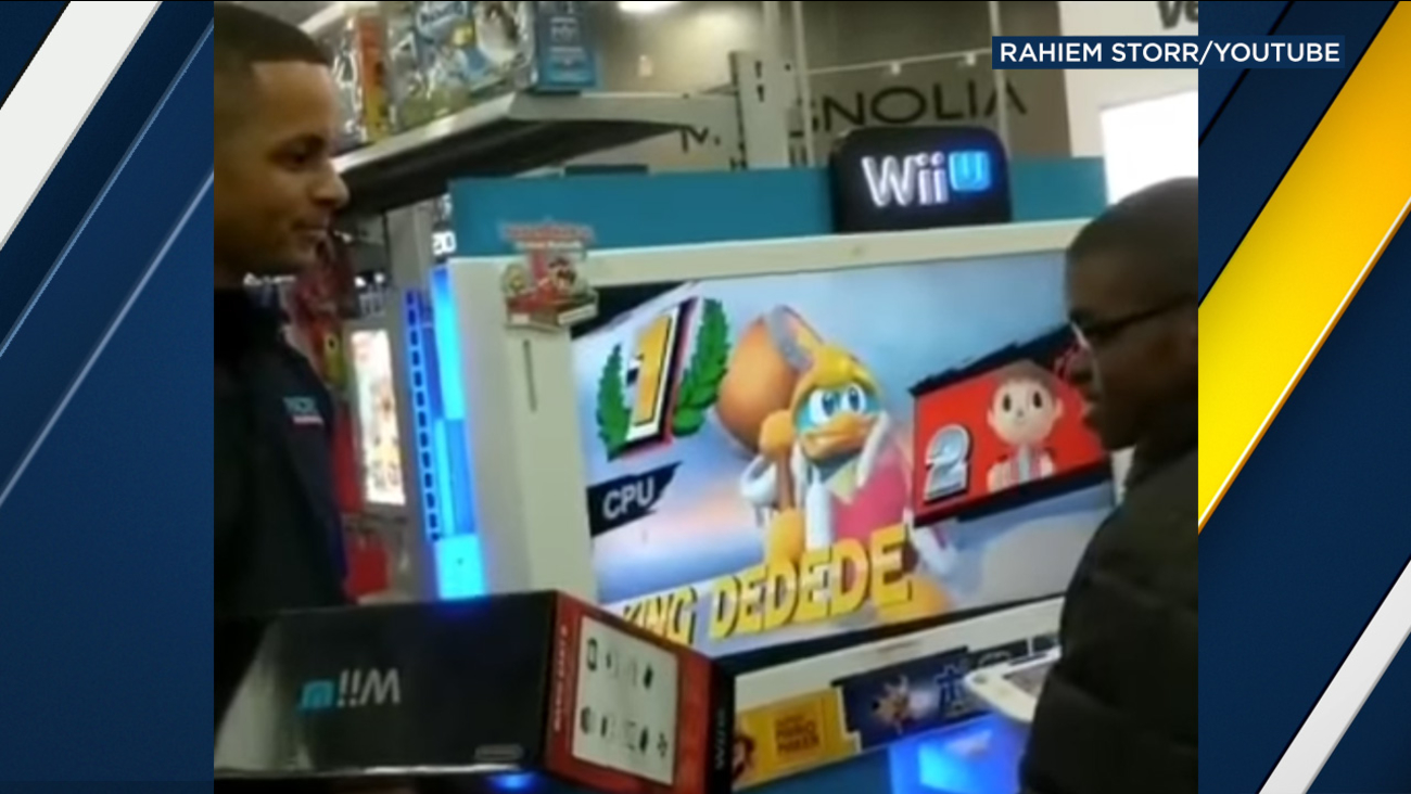 Video posted to YouTube by Rahiem Storr shows Best Buy employees presenting a child with a WiiU in Valley Stream, N.Y.