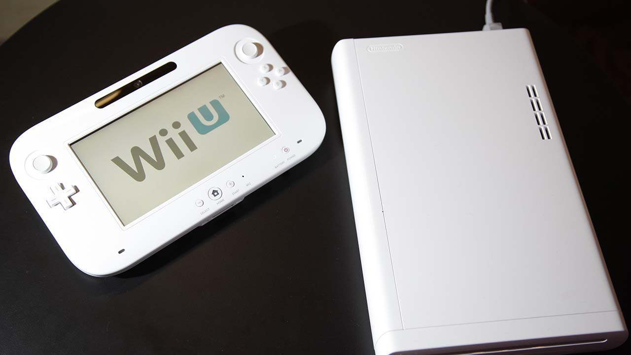 The new WiiU console is seen at the 2012 International CES tradeshow, Tuesday, Jan. 10, 2012, in Las Vegas.