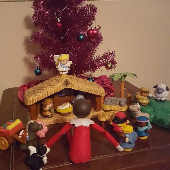 <div class='meta'><div class='origin-logo' data-origin='none'></div><span class='caption-text' data-credit=''>The Elf on the Shelf is a common fixture in American homes around the holidays and our viewers are sharing some of their best photos.</span></div>