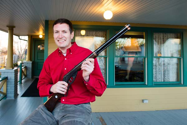 <div class='meta'><div class='origin-logo' data-origin='none'></div><span class='caption-text' data-credit='AP Images for A Christmas Story'>Museum owner Brian Jones holds the Red Ryder BB Gun used in the movie at A Christmas Story House and Museum in Cleveland.(Jason Miller)</span></div>