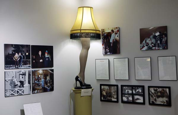 <div class='meta'><div class='origin-logo' data-origin='none'></div><span class='caption-text' data-credit='AP'>hoto a replica leg lamp is displayed with other memorabilia at the Christmas Story museum in Cleveland. (AP Photo/Mark Duncan)</span></div>