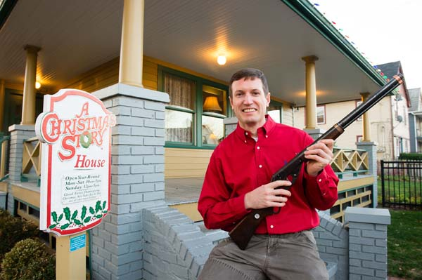 <div class='meta'><div class='origin-logo' data-origin='none'></div><span class='caption-text' data-credit='AP Images for A Christmas Story'>On Wednesday, Dec. 2, 2015, Museum owner Brian Jones holds the Red Ryder BB Gun used in the movie at A Christmas Story House and Museum in Cleveland. (Jason Miller/AP)</span></div>