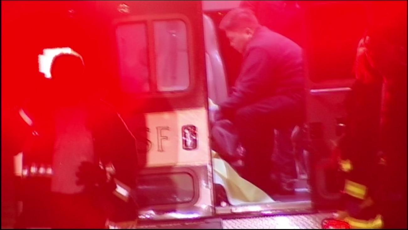 An ambulance sits near Golden Gate Park on Dec. 12, 2016.