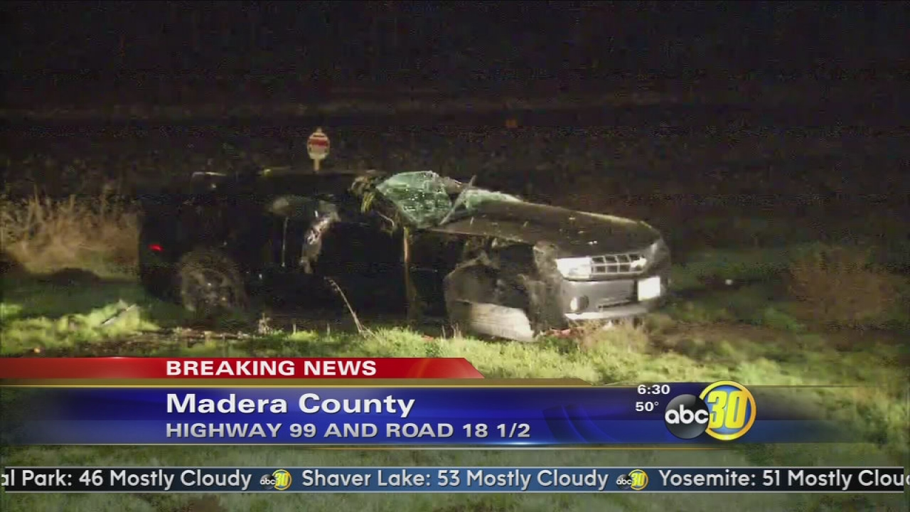 Fatal crash in on Highway 99 north of Madera | abc30 com