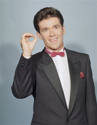 <div class='meta'><div class='origin-logo' data-origin='AP'></div><span class='caption-text' data-credit='AP Photo/Pizac'>Alan Thicke is photographed at the Emmy Awards in Los Angeles on Sept. 20, 1987.</span></div>