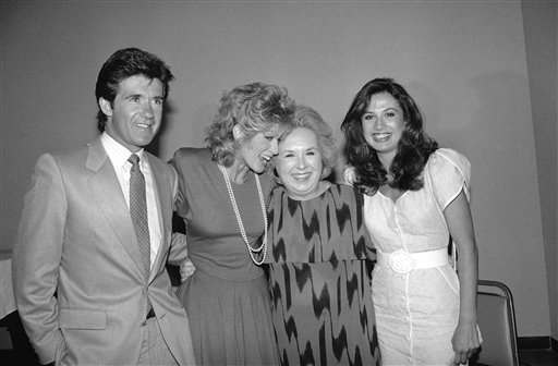 <div class='meta'><div class='origin-logo' data-origin='AP'></div><span class='caption-text' data-credit='AP Photo/Wally Fong'>Doris Roberts, of NBC's &#34;Remington Steele&#34; television show, second from right, is flanked by Judith Light, second from left, Ana Alicia, right, and Alan Thicke, left, Aug. 5, 1985.</span></div>