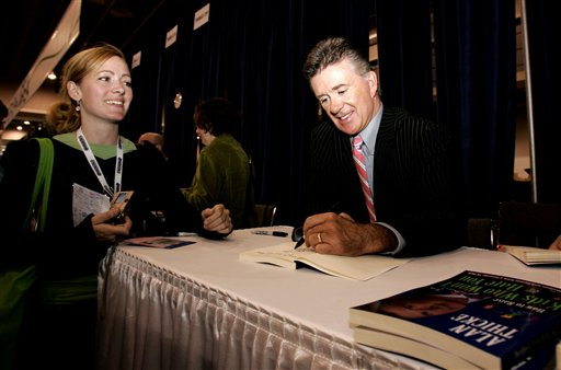 <div class='meta'><div class='origin-logo' data-origin='AP'></div><span class='caption-text' data-credit='AP Photo/Caleb Jones'>Actor Alan Thicke, right, signs his book &#34;How to Raise Kids that Don't Hate You&#34; for Jennifer Green of Westhampton Beach, N.Y., at the 2006 Book Expo.</span></div>