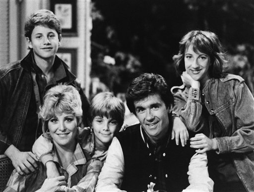 <div class='meta'><div class='origin-logo' data-origin='AP'></div><span class='caption-text' data-credit='AP Photo'>Starring as the Seaver Family on ABC's &#34;Growing Pains&#34; are: Kirk Cameron as Mike, Joanna Kerns as Maggie, Jeremy Miller as Ben, Alan Thicke as Jason and Elizabeth Ward as Carol.</span></div>