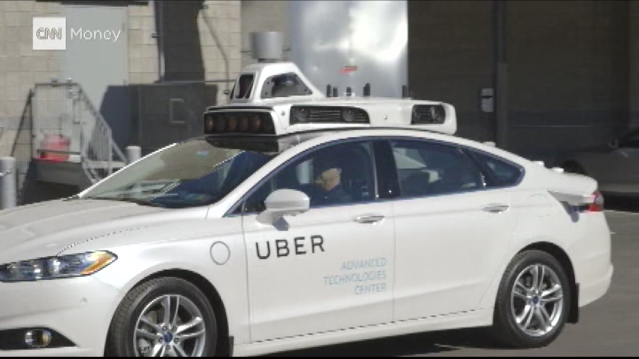 Uber is launching its self-driving cars on Wednesday, Dec. 14, 2016 in San Francisco.