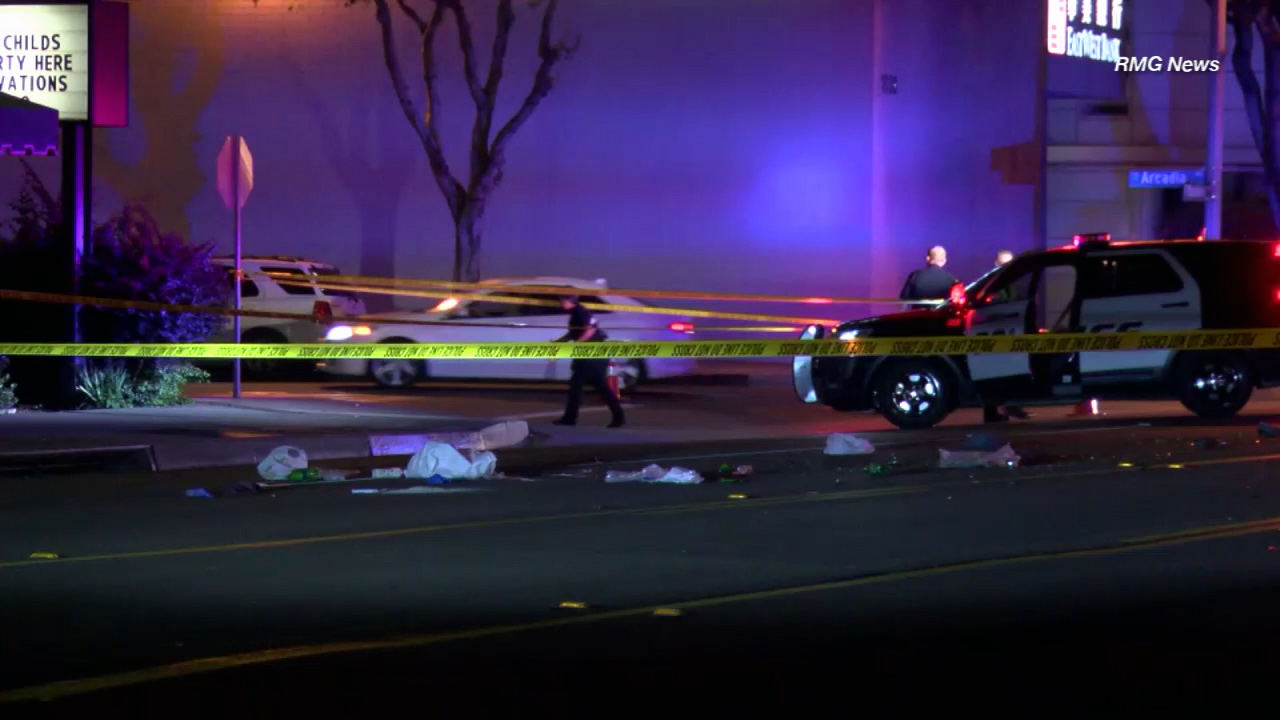 Police said a 77-year-old woman was killed in a hit and run at the intersection of Baldwin and Arcadia avenues in Arcadia on Wednesday, Dec. 14, 2016.