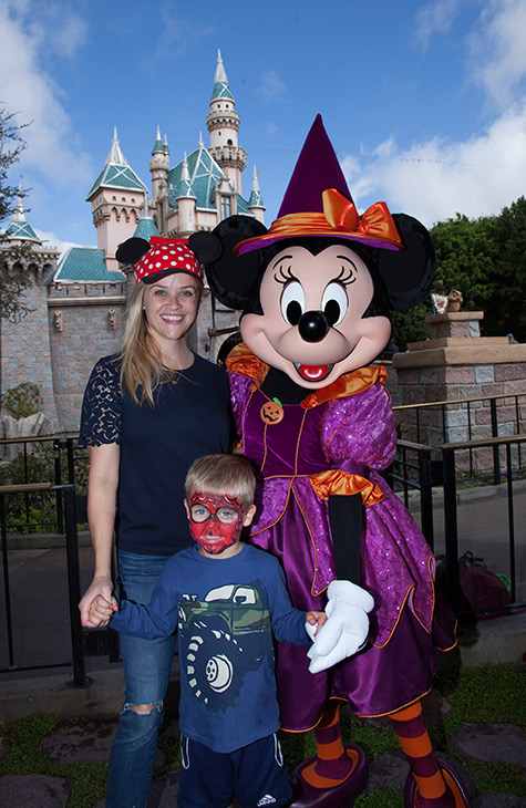 <div class='meta'><div class='origin-logo' data-origin='KABC'></div><span class='caption-text' data-credit='Scott Brinegar/Disneyland Resort'>Actress Reese Witherspoon celebrates Halloween with Minnie Mouse at Disneyland Park in Anaheim on Monday, Oct. 17, 2016.</span></div>