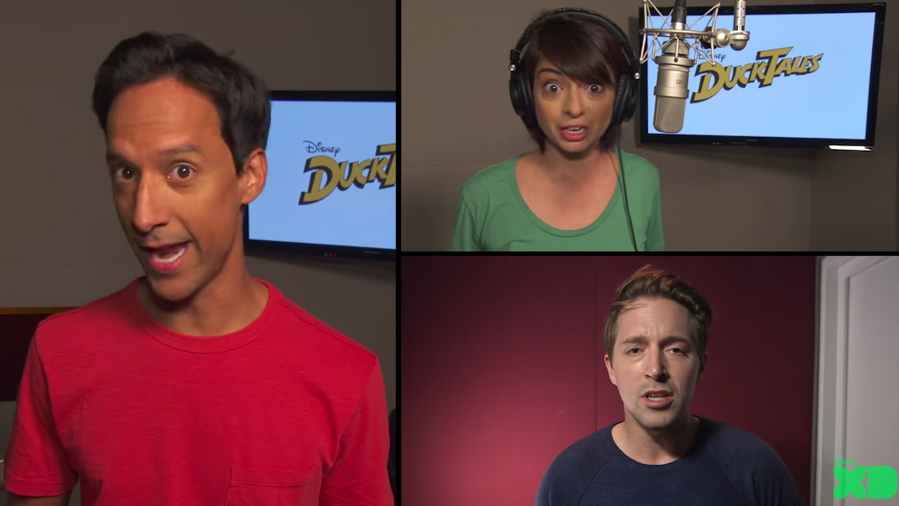The new stars of DuckTales sing the show's iconic theme song.