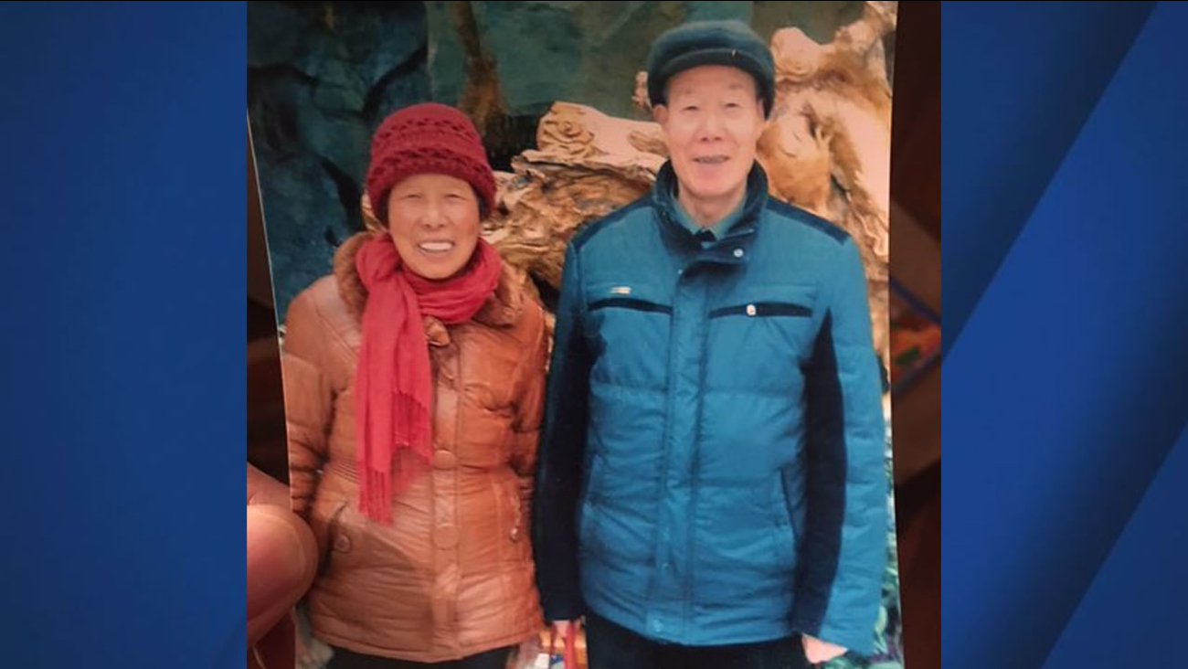 This is an undated image of QiaoQiao Wu and Decang Wu, an elderly couple who went missing in Fremont, Calif. on Dec. 16, 2016.