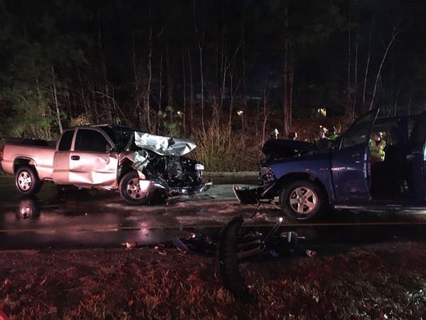 <div class='meta'><div class='origin-logo' data-origin='WTVD'></div><span class='caption-text' data-credit=''>Photo from the scene of a head-crash on US 70 Business in Wake County</span></div>