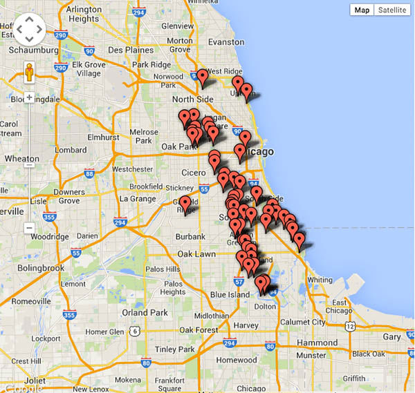 Shootings In Chicago Map.Chicago Shootings Killed On The 4th Of July Abc7ny Com