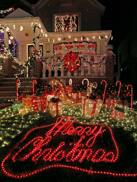 <div class='meta'><div class='origin-logo' data-origin='AP'></div><span class='caption-text' data-credit='AP Photo/Kathy Willens'>A private home in the Dyker Heights neighborhood of the Brooklyn borough of New York is elaborately decorated for Christmas</span></div>